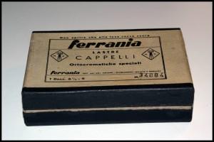 Lastre ortocromatiche in vetro Cappelli-Ferrania